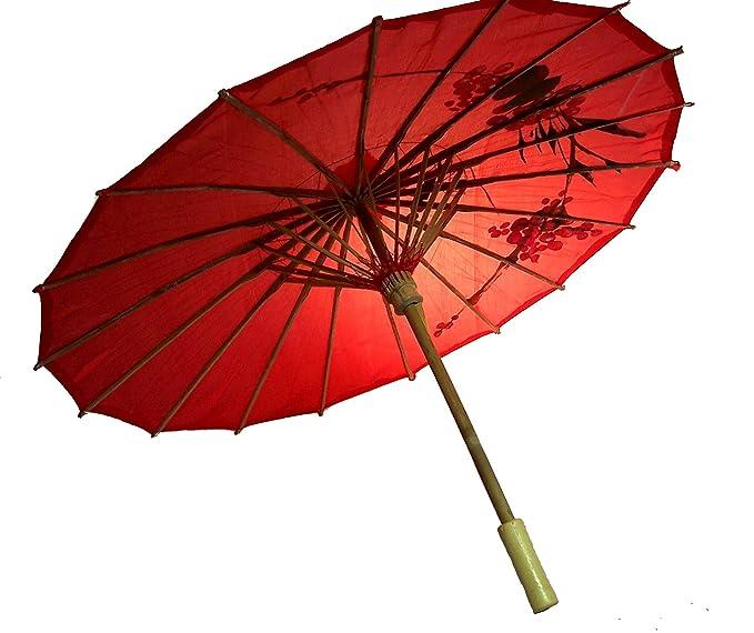 ANKKO Chinesische Papier Sonnenschirm Bambus klassische Regenschirm Tanzen Regenschirm Lotus
