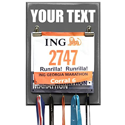 amazon com medal and bib display hanger create your own text