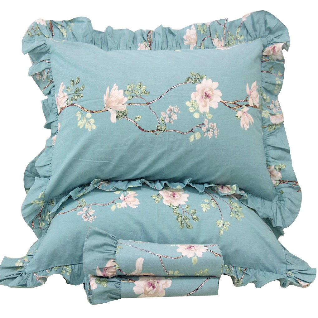 Queen's House French County Style Branches Duvet Cover Bedding Set-King,E