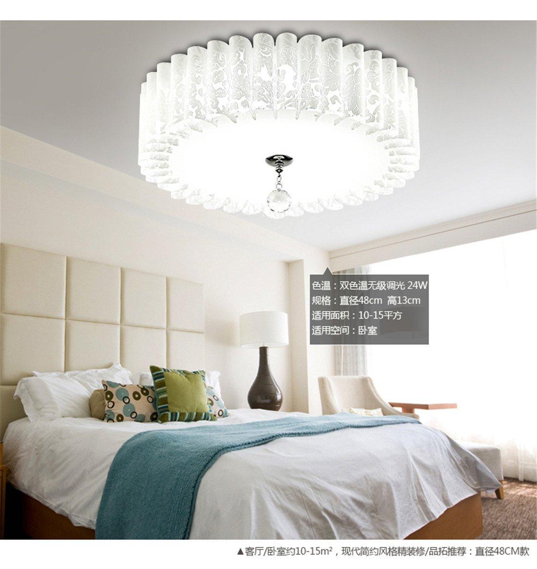 MEIHOME Lámpara de techo LED DE CRISTAL Circular 4 Iluminación de techo 13cm una luz blanca Plafón para dormitorio salón cocina baño