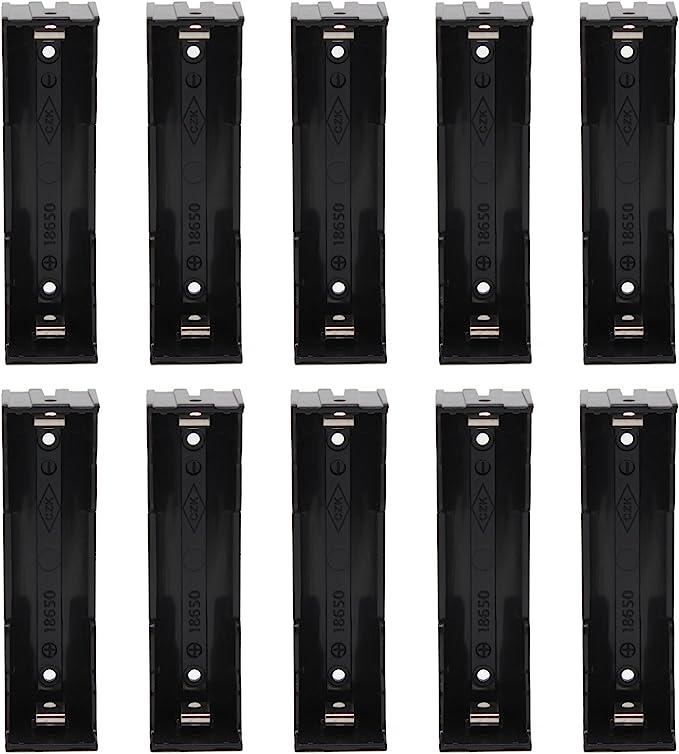 KEESIN 3.7V 18650 Batería Poseedor Caso El plastico Tapa de la batería Caja de almacenamiento con pin(1 Solts × 10 Piezas): Amazon.es: Electrónica