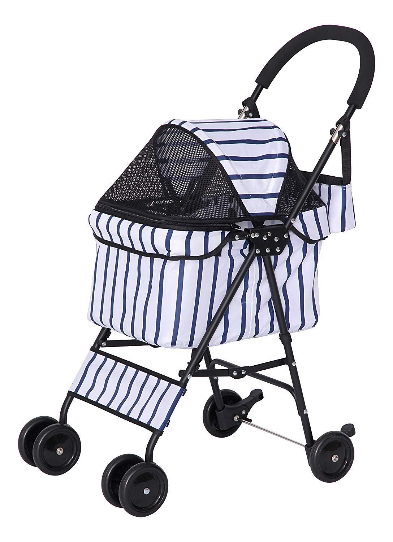 GLJJQMY Pet Stroller Light Dog Walking Cat Cat Stroller Folding Storage Pet car seat