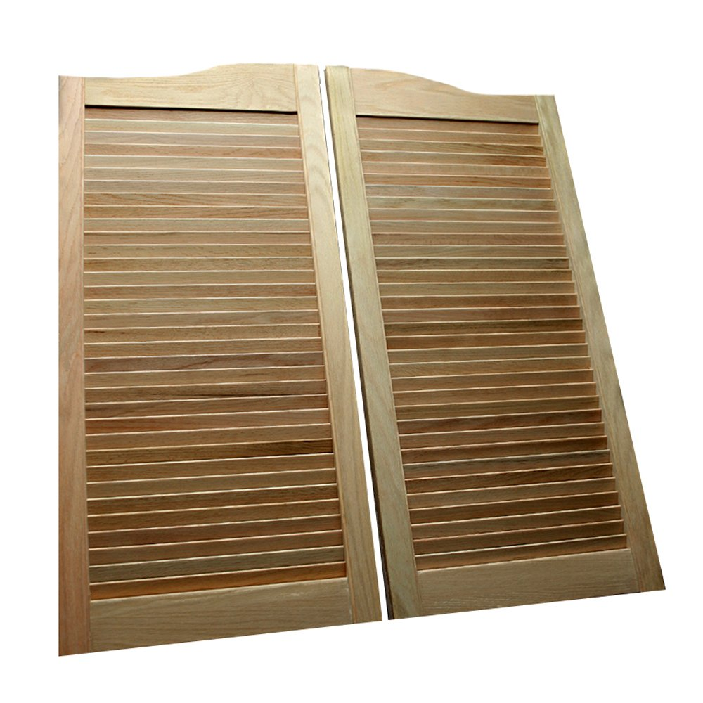 Louvered swinging door 12