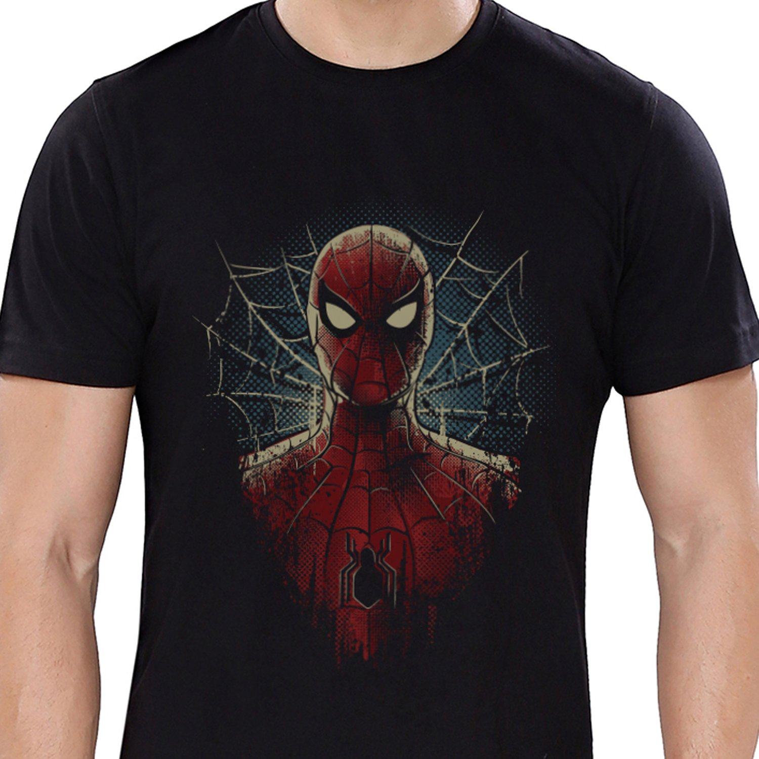 2a681353 The Souled Store Marvel Spider-Man Face XL Superhero Cotton T-Shirt for Mens  from: Amazon.in: Clothing & Accessories