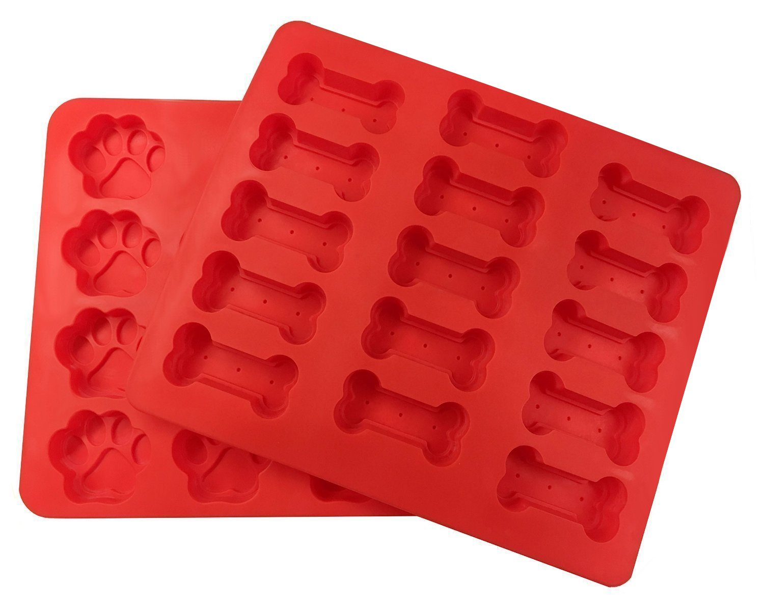 wellhouse Bake Bone and Paw Silicone Cake Mold - 15 Cavities 3 - Food Grade Silicone Non-Stick WH