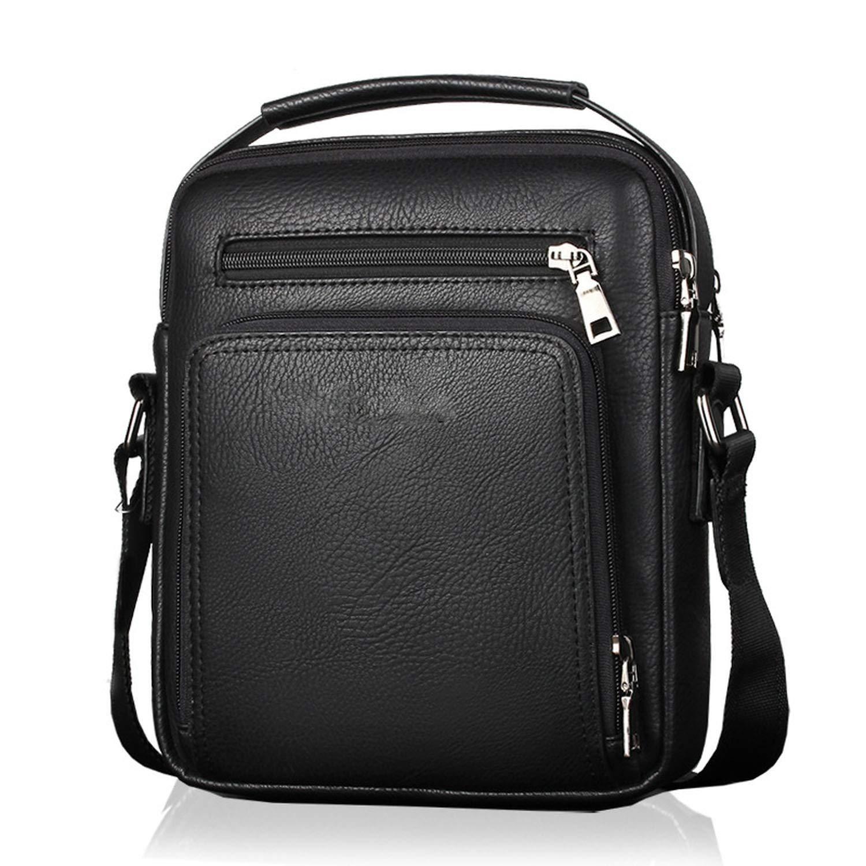Casual Men Crossbody Bags Pu Leather Messenger Bag Designer Men Handbag
