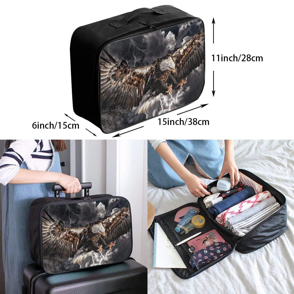 Travel Luggage Duffle Bag Lightweight Portable Handbag Eagle Print Large Capacity Waterproof Foldable Storage Tote