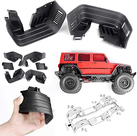 Rear Upper Mudguard fenders Mud Guard for Axial SCX10II AX90046 AX90047 Chassis