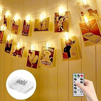 Minger 14.8-Foot 20-LED Photo Clip String Lights
