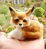 Little Fox Sitting Fengshui Learning Resources Miniature Plush Stuffed Animal Toy