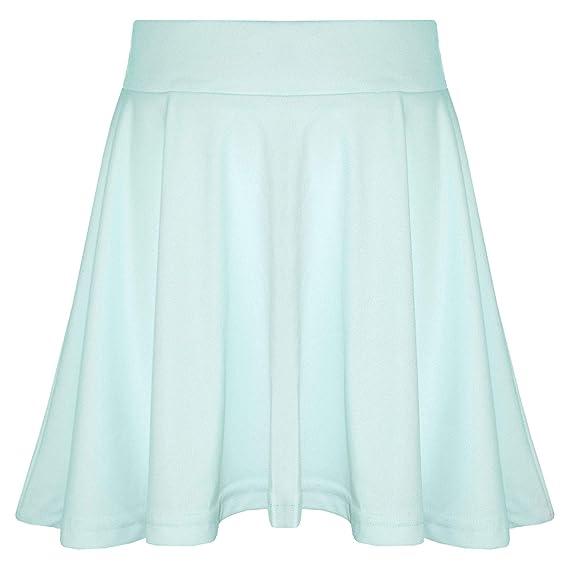 66b03d53d13fc Image Unavailable. A2Z 4 KIDS New Girls Skater Skirts School Fashion Summer  Plain Skirt 5 6 ...