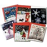 クリスマスカード 「ホワイト クリスマス」 44 六点セット E