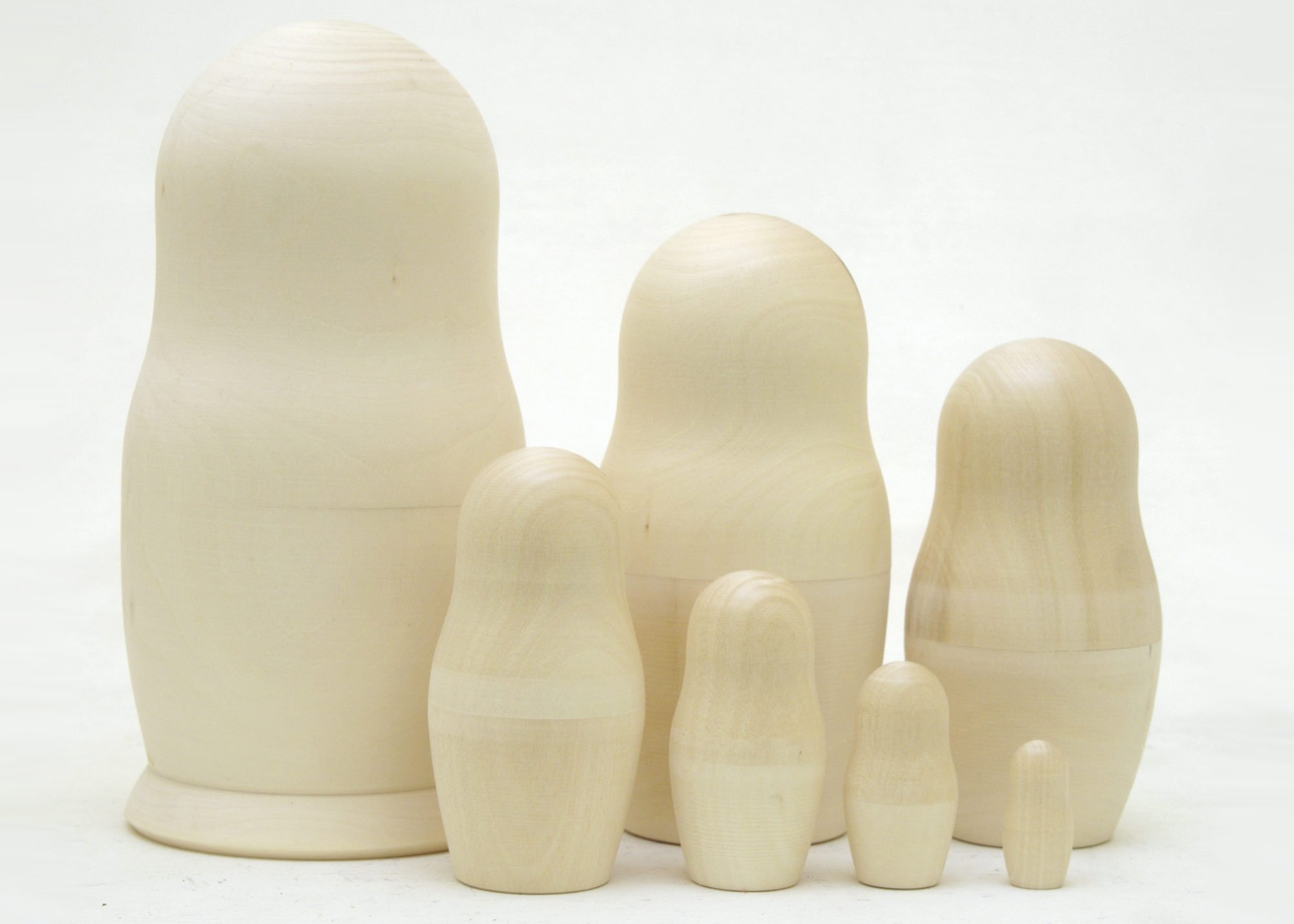 Blank Nesting Doll 7pc./8'' by Unknown