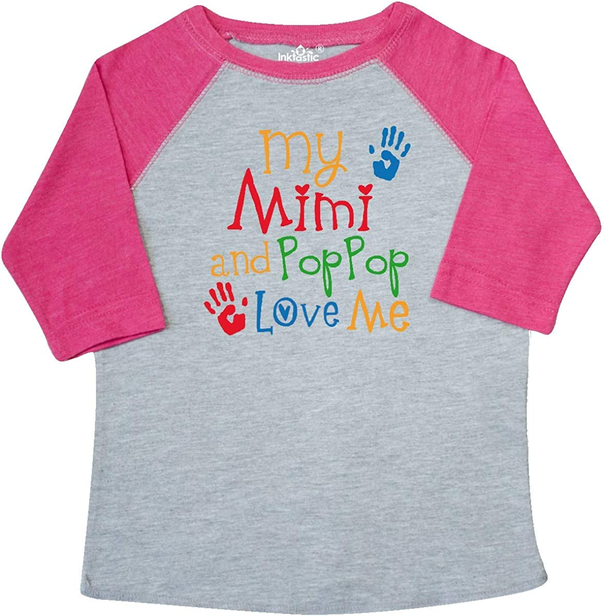 Inktastic Mimi And PopPop Love Me Toddler T-Shirt Gift Childs Boys Girls Outfit