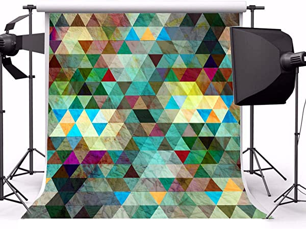 7x10 FT Abstract Vinyl Photography Background Backdrops,Abstract Pattern with Short Lines Chalkboard Geometric Simple Retro Artwork Print Background Newborn Baby Portrait Photo Studio Photobooth Props
