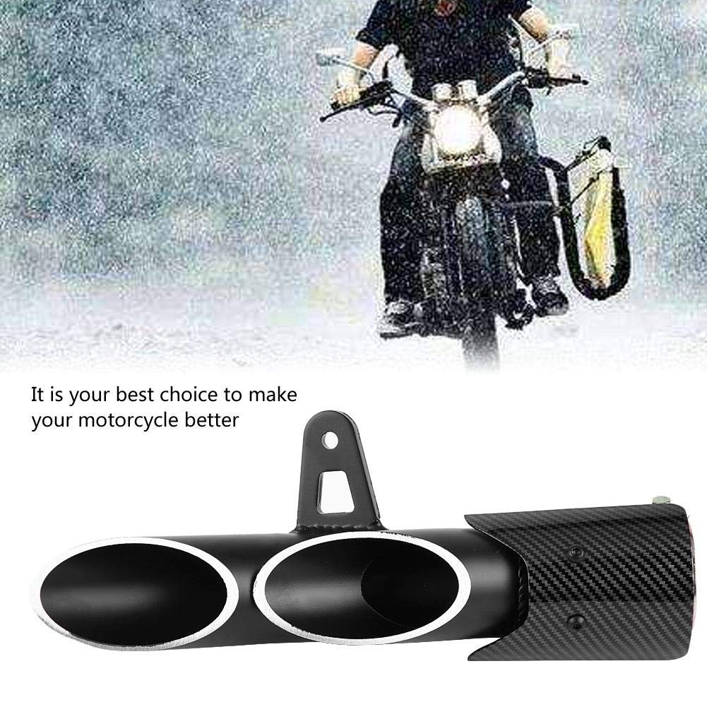 Duokon Silenciador de Escape de Motocicleta de 51 mm Deslizamiento de Motocicleta Negro Brillante Universal en Tubo de Escape Tubo de Escape Trasero Silenciador de Escape