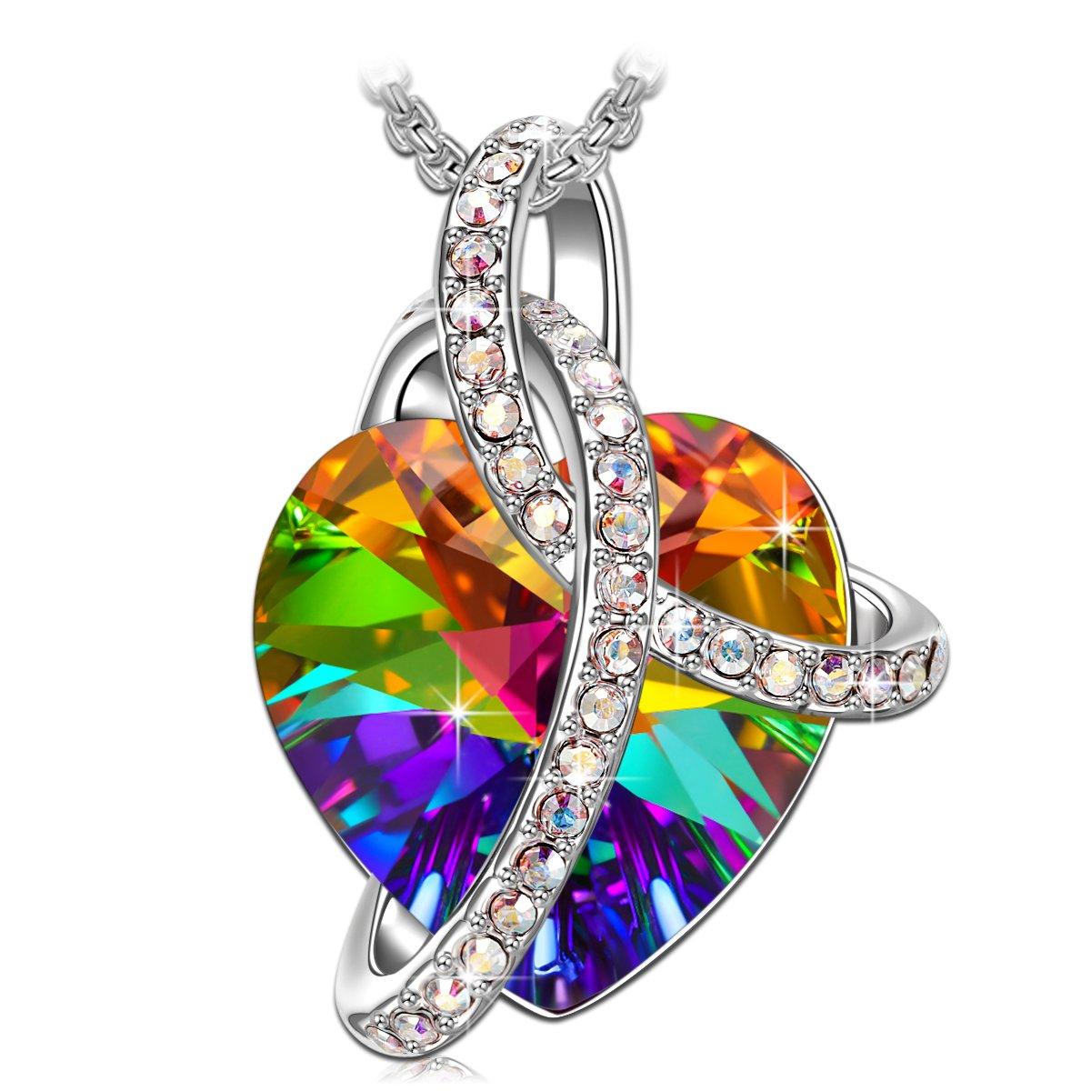 Love Heart' Fashion Jewelry Necklace Made Swarovski Crystals, Jewelry Women Gifts Mom
