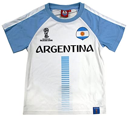 4c7bfd596e4 FIFA Boys Official World Cup Russia 2018 Argentina Football Top Sizes from  4 to 12 Years  Amazon.co.uk  Clothing