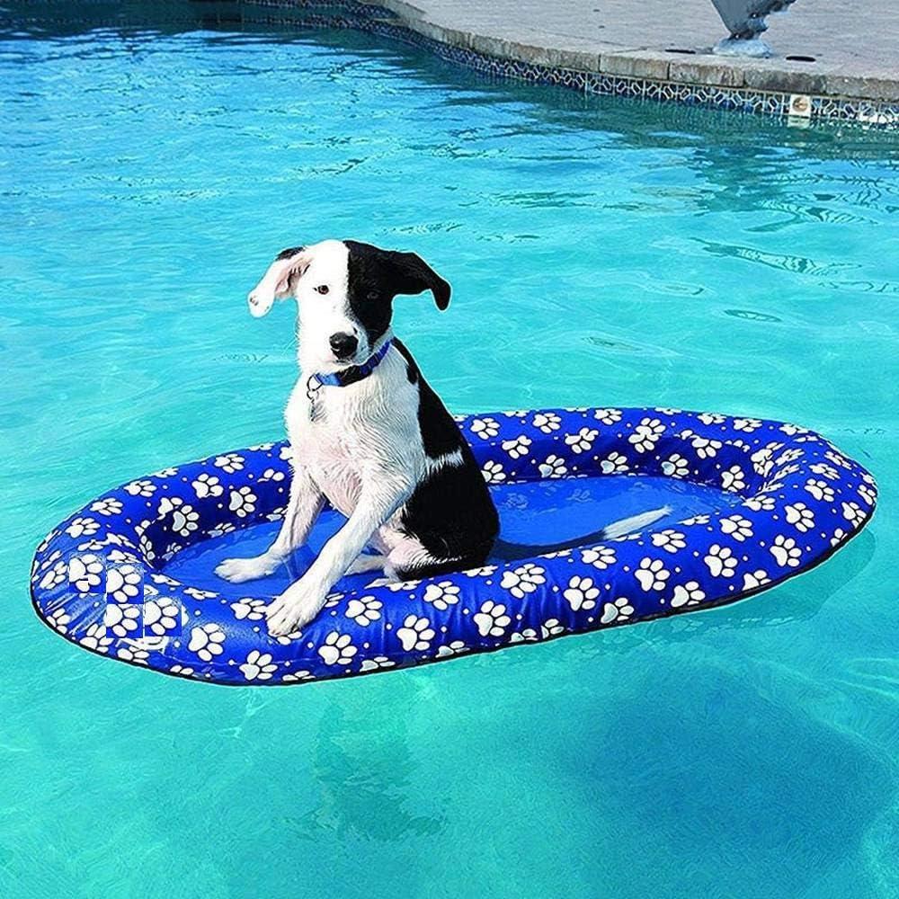 Vercico Flotador Inflable para Perros Balsa Flotante para Perros ...