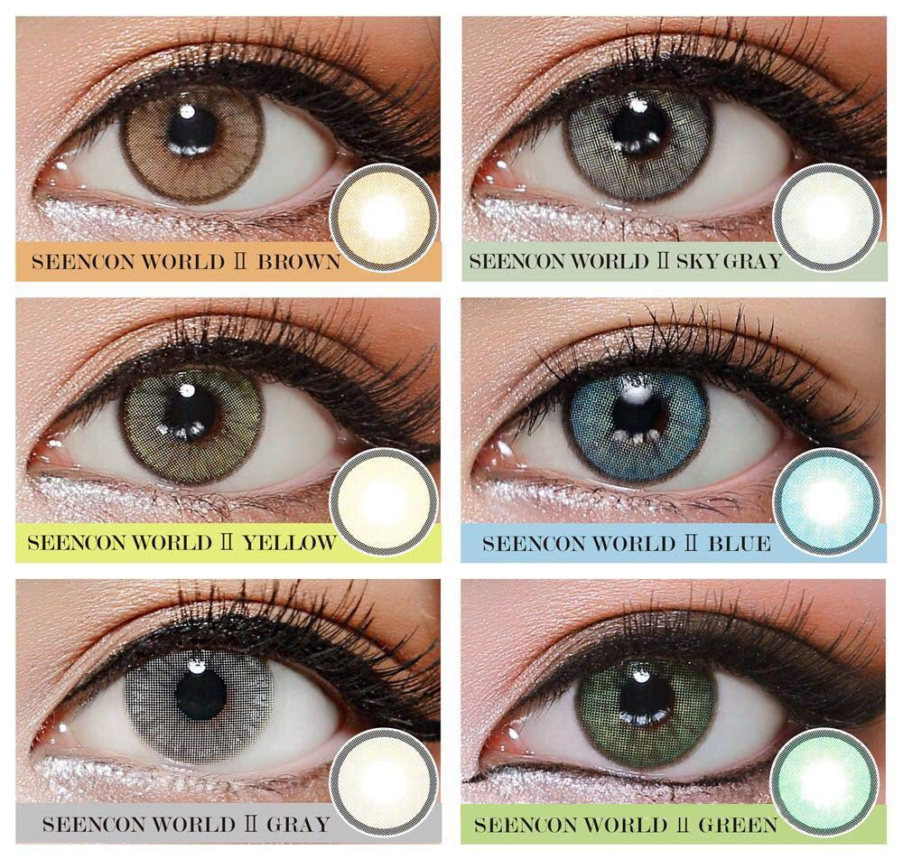 WQFXYZ Women Multi-Color Contact Lenses Cosplay Eyes Cute Charm and Attractive Fashion Eye Accessories Cosmetic Makeup Eye Shadow (16)