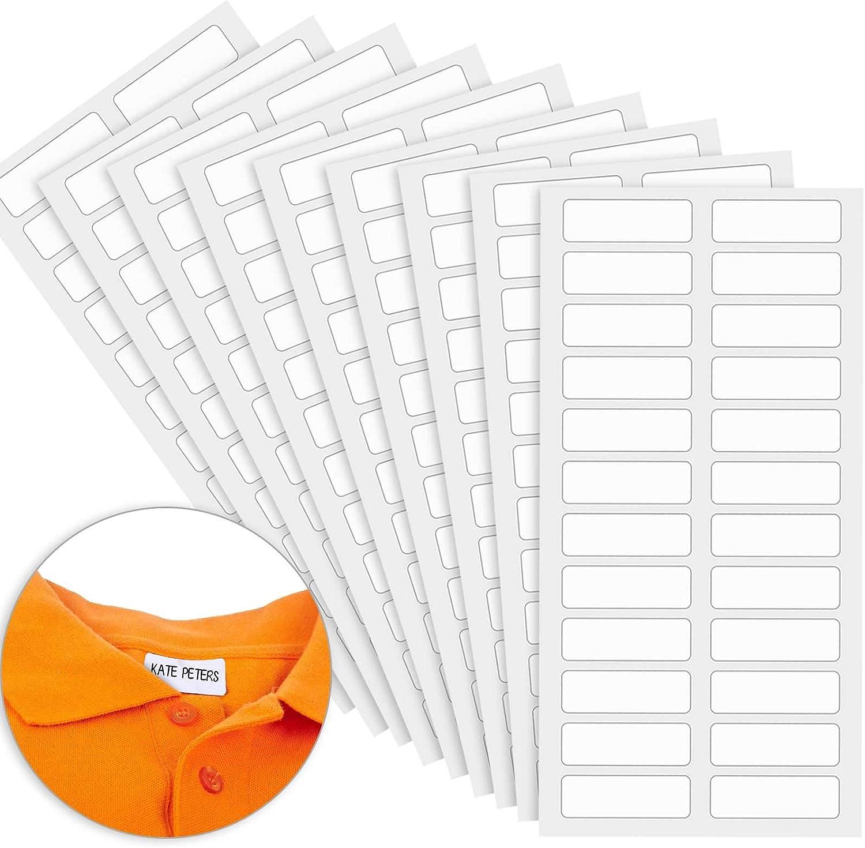96 Piezas Secadora Etiquetas de Ropa de Ni/ños sin Planchar Etiquetas de Tela Grabables con Pinza Etiquetas de Ropa Seguridad para Lavadora