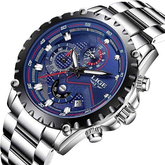 6de62467d773 LIGE Reloj para Hombre