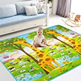 HLMIN Infant Crawling Mat Child Educational Alphabet Crawling Mat 2 Side Kids Playing Gym Mats Ideal Gift For Baby Gift - Storage Bag Included (Color : A, Size : 180x200x0.5cm)