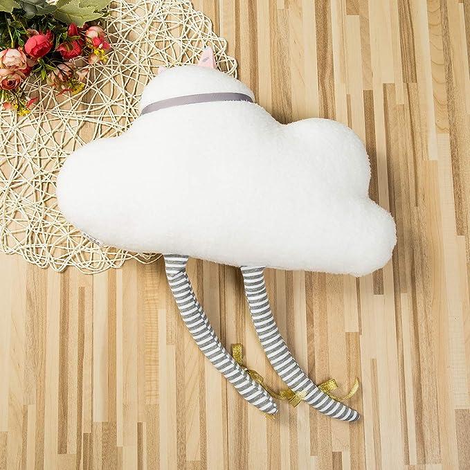 Style 1 Geagodelia Oreiller b/éb/é Coussin /à Oreilles Coussin Enfant en Forme Lapin avec Oreilles Cadeau 37 x 27 cm