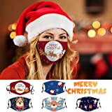 Happystar Merry Christmas Protective_Mask_Three-Dimensional Santa Claus Pattern Printed Washable and…