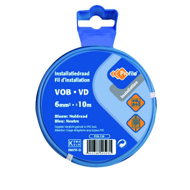 PROFB 790410353 C/âble Vob 6 mm 10 m Bleu