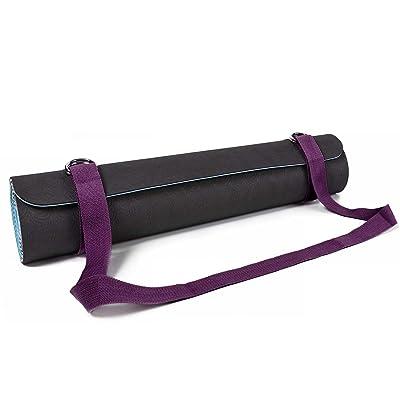 #DoYourYoga Tapis de yoga avec sangle «â€¯Yuki&raquo, sangle de transport réglable pratique pour tous les tapis de yoga, de pilates et de fitness, extra épais–de nombreuses couleur