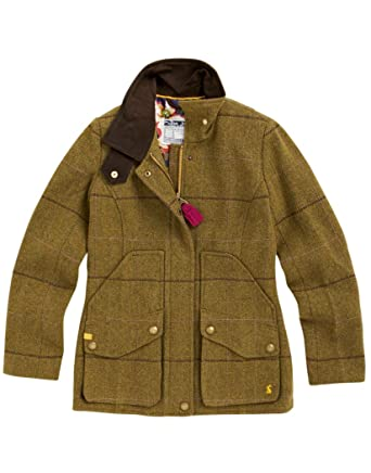 f61388d55 Joules Ladies' Tweed Field Coat N_FIELDCOAT - 8: Amazon.co.uk: Clothing
