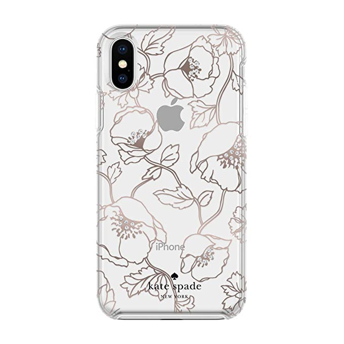 finest selection 8dd43 e13b3 kate spade new york Cell Phone Case for iPhone X - Multi Dreamy Floral Rose  Gold with Gems
