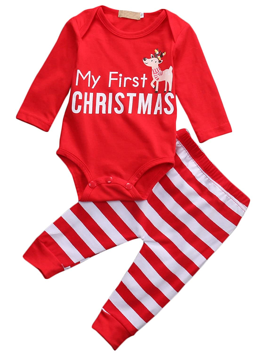 baby boy my first christmas pajamas