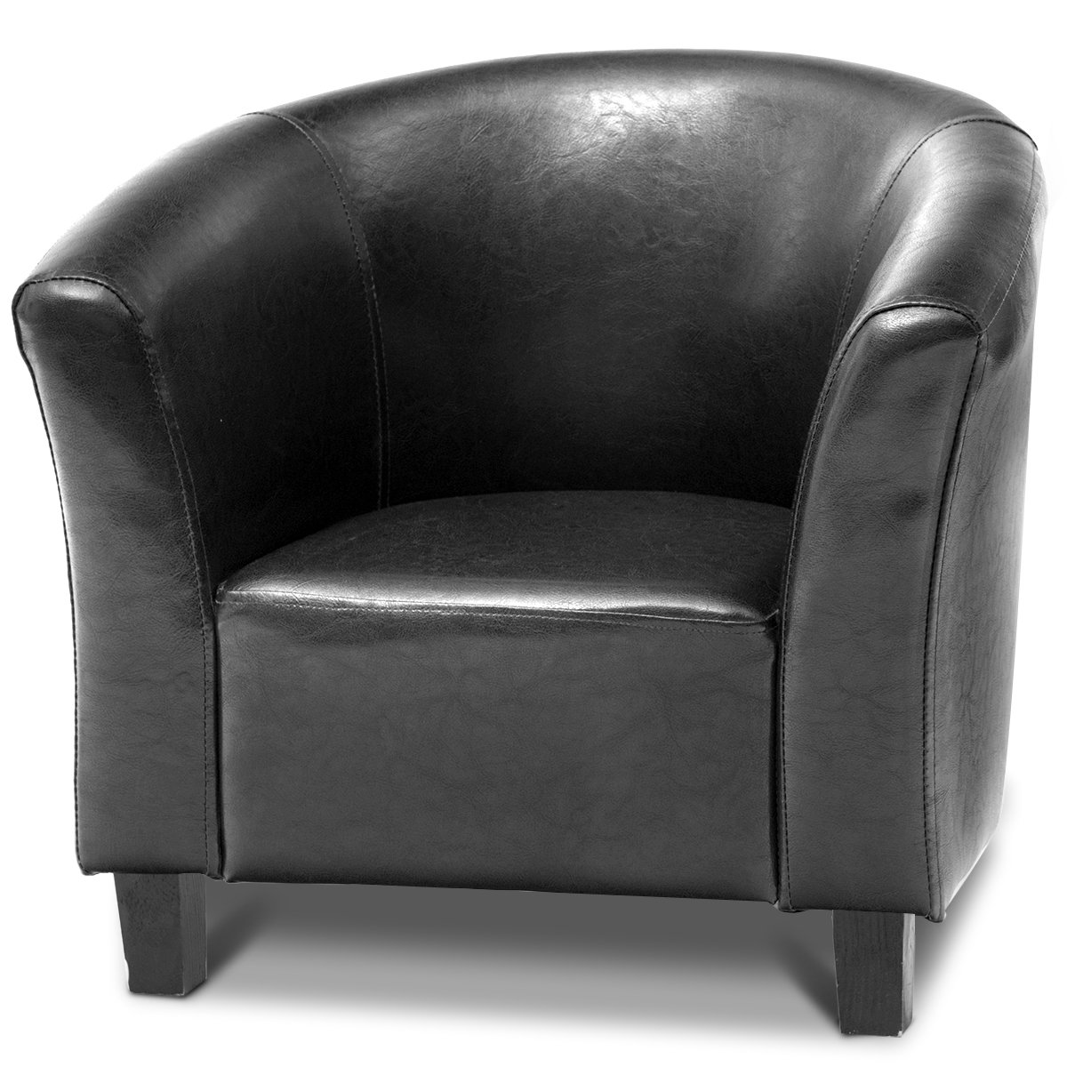 Costzon Kids Sofa Tub Chair Couch Children Living Room Toddler Furniture (PU Leather, Black) by Costzon (Image #2)