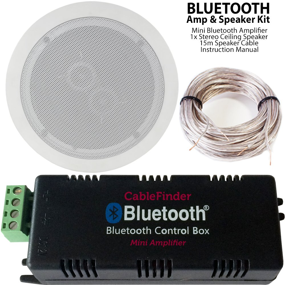 Bluetooth Amplifier Dual Coil Stereo Ceiling Speaker Kit
