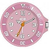 Echtes Ice-Clock Marke gummierte Hintergrundbeleuchtung-leuchtender Nachtglühen-Spielraum-Wecker mit fantastischem Fall (Rosa)