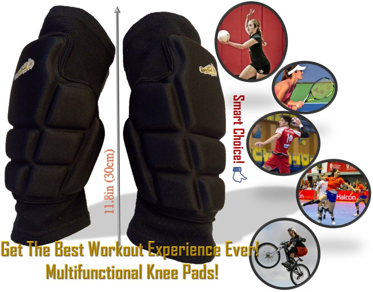 AB Roller Wheel and Knee Protectors Set for Abdominal Six Pack & Core Workout - Highly Cushioned Thick and Breathable Pads Pair to Support the Rollout Crunch Machine Home Gym Training - PureGoal