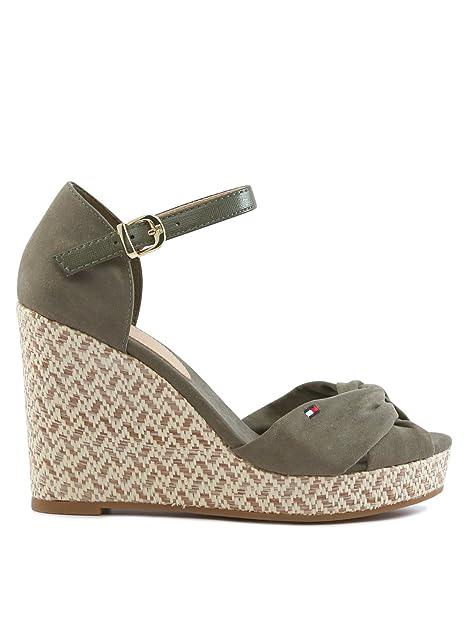 Alpargatas para mujer, color Verde , marca TOMMY HILFIGER, modelo Alpargatas Para Mujer TOMMY HILFIGER ELENA3D Verde: Amazon.es: Zapatos y complementos