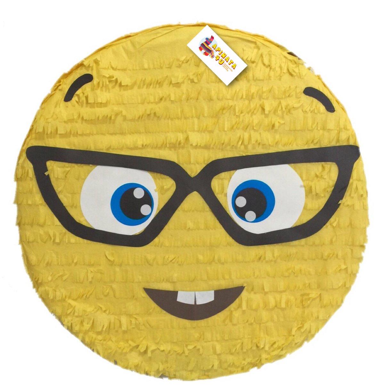 Nerdy Glasses Emoji Pinata