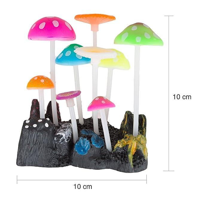 Uniclife - Adorno para decoración de acuario de seta artificial, efecto brillante, para pecera, paisaje: Amazon.es: Productos para mascotas