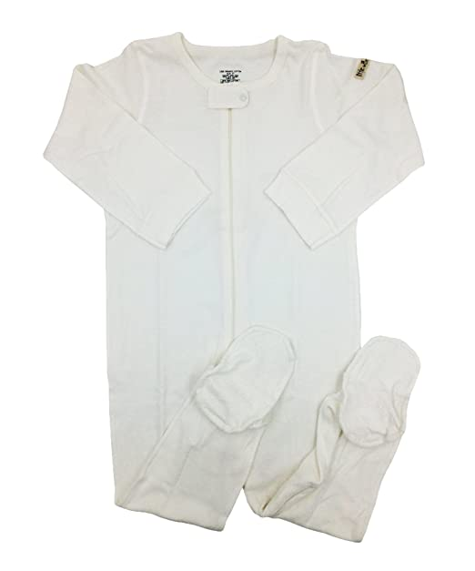 675e8a618 Amazon.com  little world peas Organic Toddlers Boys Footed Bodysuits ...