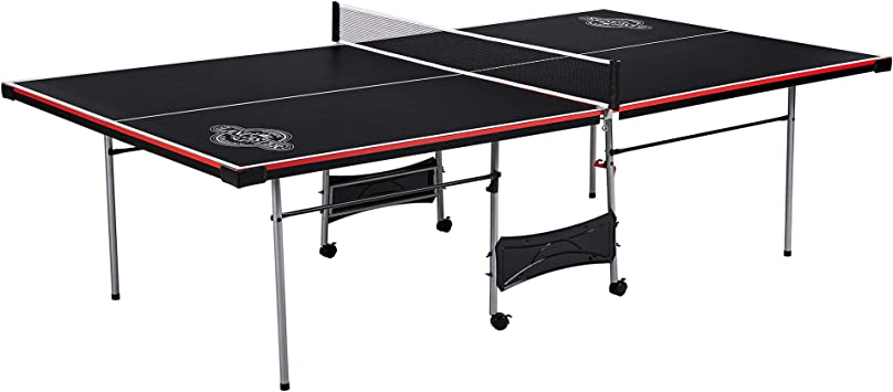 Lancaster Easy to Assemble Compact Portable Indoor 2 Piece Table Tennis GamePing Pong 2 Player Performance Game Set w// 2 Rackets and 3 Orange All Star Balls