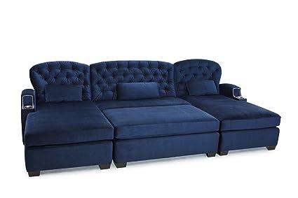 Amazon.com: Cavallo Seating Chateau Bella Fabric Custom Home Theater ...