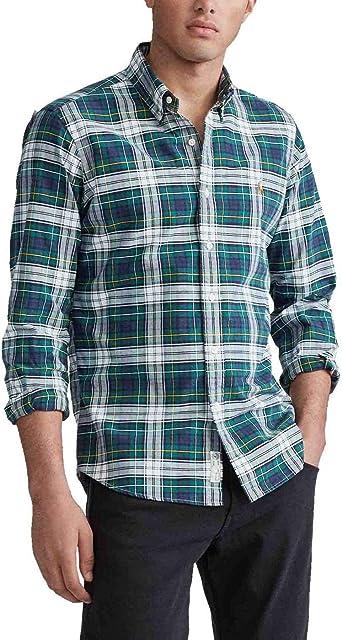 Camisa Ralph Lauren Oxford Custom Fit Cuadros Verde Hombre M Verde: Amazon.es: Ropa y accesorios