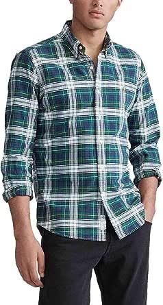 Camisa Ralph Lauren Oxford Custom Fit Cuadros Verde ...