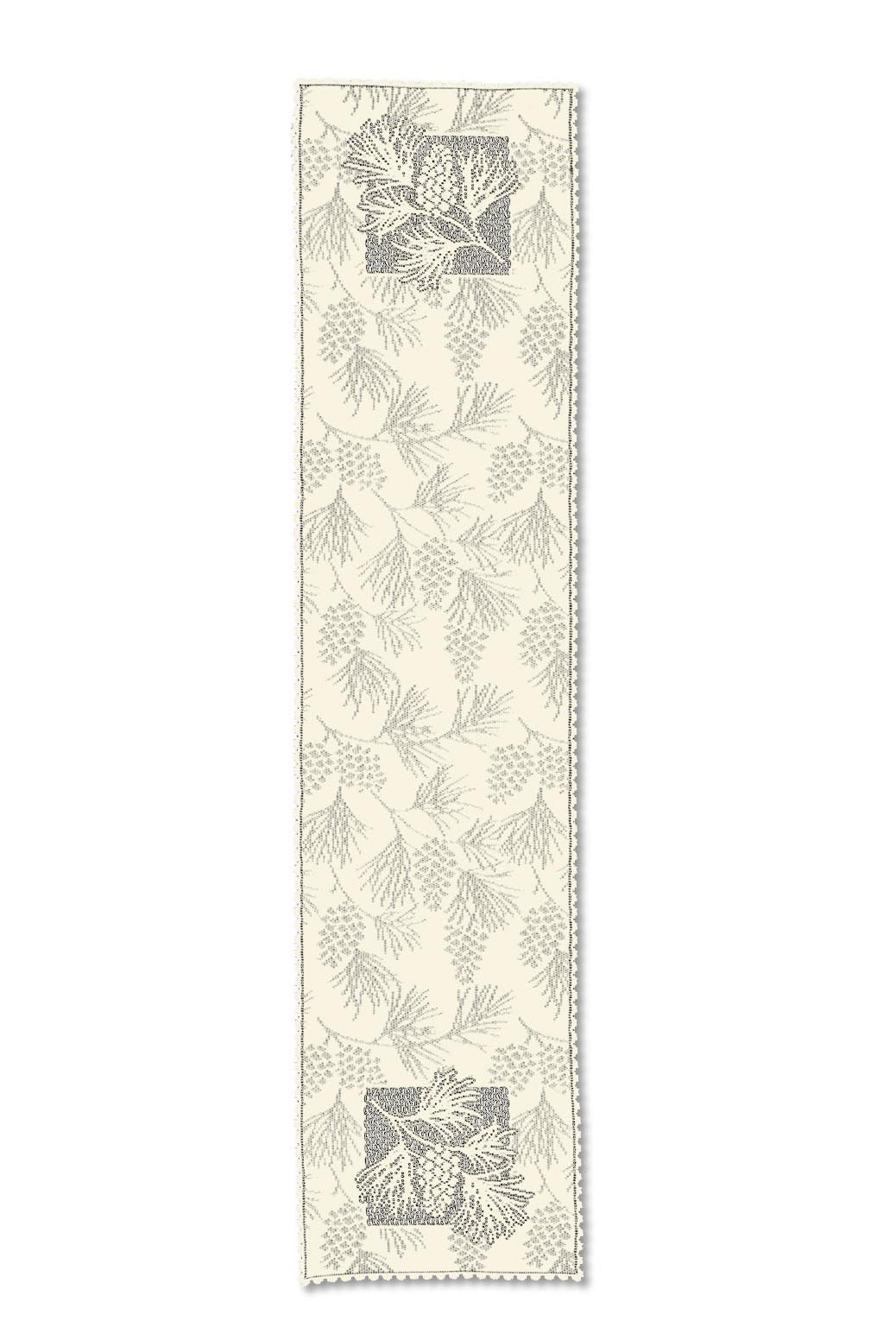 Heritage Lace Woodland 14-Inch by 60-Inch Runner, Ecru