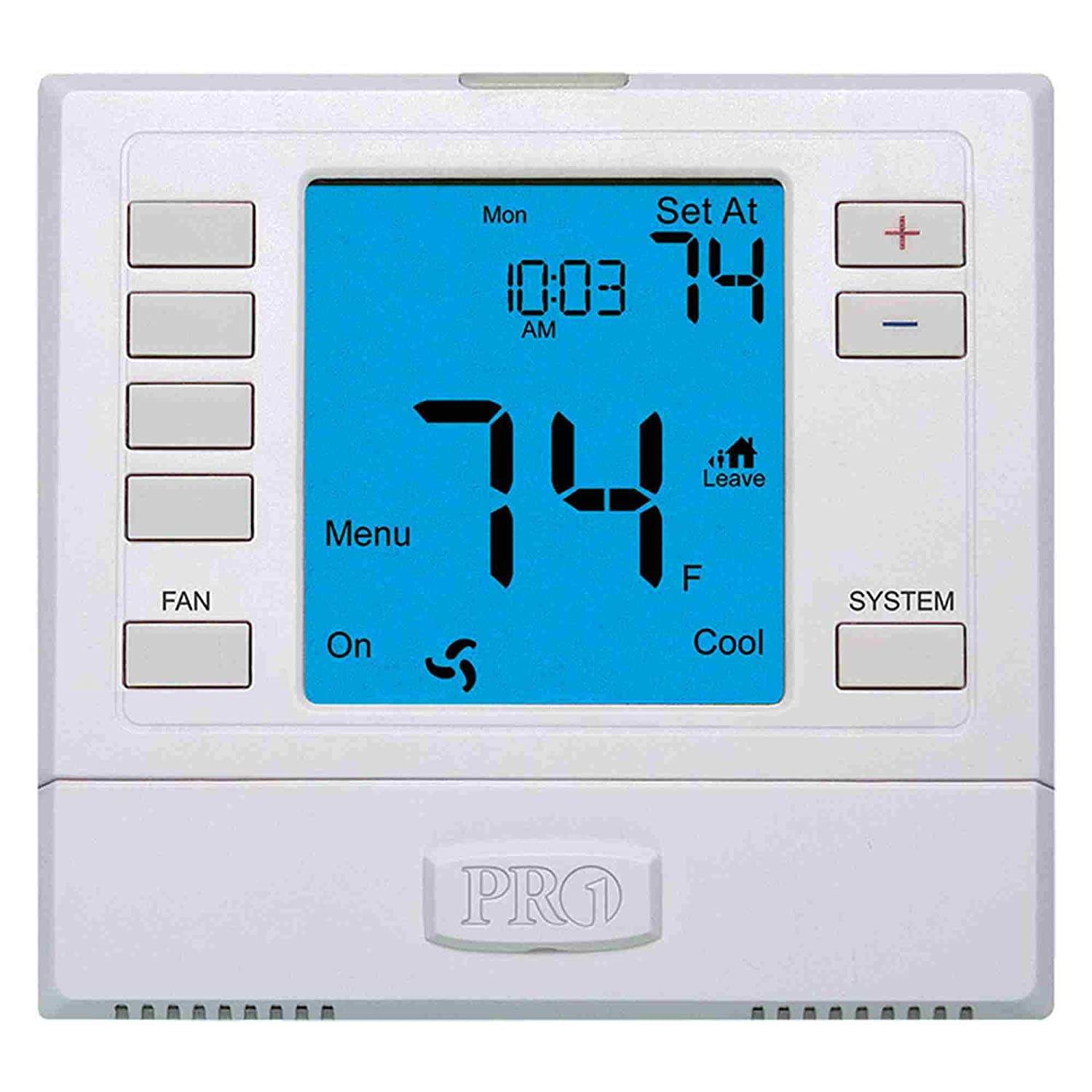 Thermostat 5 1 Day Programmable Stages 3 Heat 2 Cool Emerson Digital Wiring Diagram Household Thermostats