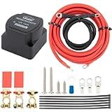 DEWINNER 12V 140 Amp Dual Battery Smart Isolator & ATV UTV Wiring Cable Kit - Voltage Sensitive Relay - VSR, Double…