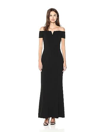 b9b667d99baf Calvin Klein Women s Off The Shoulder Center Notch Gown at Amazon ...